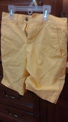 Boys Youth Ralph Lauren Yellow (Pony) Shorts,Flat Front,Size 8