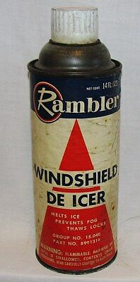 Rambler Windshield De-Icer Car Care Chemical: Aerososl Can From The Sixties