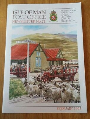 Isle of Man Post Office Newsletter 71. Snaefell Railway. Stamps. February 1995