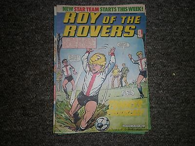 """Roy Of The Rovers 27th January 1979 Issue - """"New Star Team Starts This Week"""""""