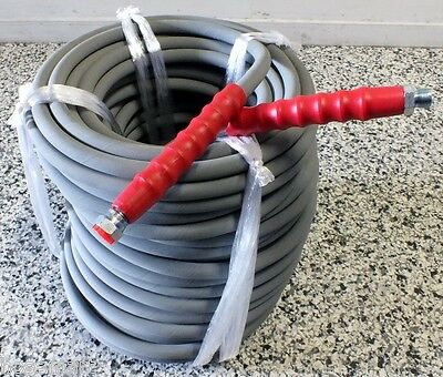 "Pressure Washer Hose 3/8"" 6000Psi Grey Non Marking 160° Semperjet 60 Metres"