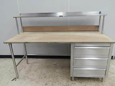 """S/S Worktable with 3 Drawers, 72"""" x 30"""""""