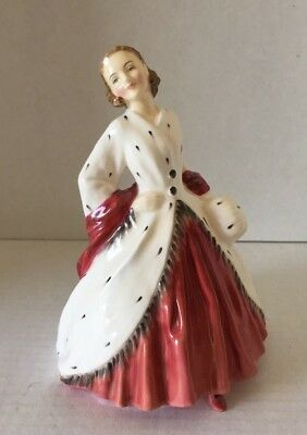 Stunning Royal Doulton The Ermine Coat Lady Figurine Hn 1981 Copr 1945-Excellent