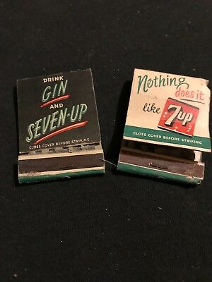 Vintage 7up match books never used