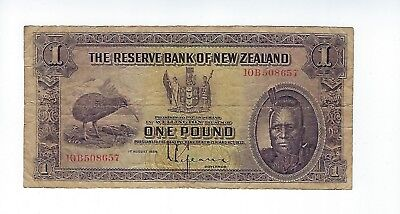 New Zealand 1 Pound 1934   See Scan  Nice Fine