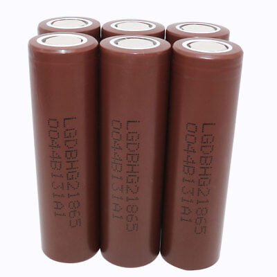6X 18650 INR 3000mAh Li-ion Rechargeable Battery HG2 3.7V High Drain for Mod