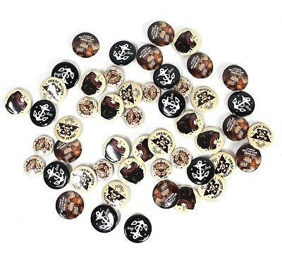 Sailor Jerry Spiced Rum Lot of 50 Button Pins T-Shirt Flare