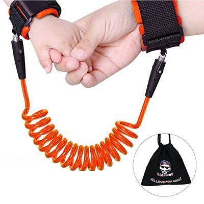 Anti-lost wrist link wristband Safety Secure for Baby & Child Leashes Red
