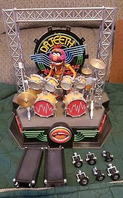 Palisades Muppets Dr. Teeth And Electric Mayhem Stage Animal Figure And Drum Set
