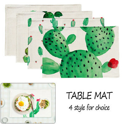 Cactus Pattern Placemat Home Decor Table mat kitchen table mats Table Napkin HOT