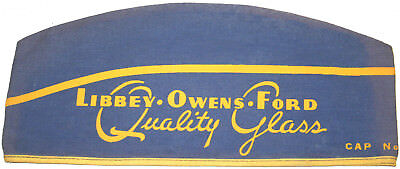 1930's? LIBBEY OWENS FORD Quality Glass Army type cap EX Condition ORIGINAL