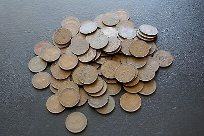 lot of 100 Small Cent Canada 1920 1936 no 1922 1923 1924 1925 1926