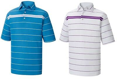 db2d4c0a New Footjoy Smooth Pique Chest Stripe Polo Golf Shirt, Pick Color & Size,  ...