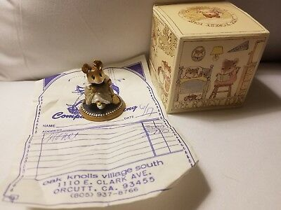 RARE Wee Forest Folk Cinderella's helper Mouse  Annette Petersen 1984 PERFECT