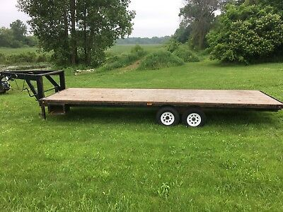 "JRC custom 102"" x 26' Gooseneck Deckover Trailer 12k dual brake axles"