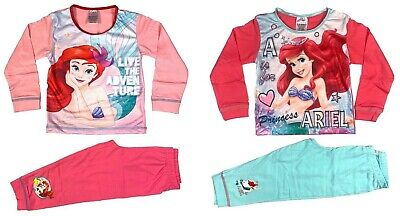 Official Girls Toddler Disney Princess Ariel Pyjamas Pajamas Nightwear 2 3 4 5