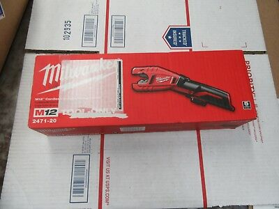 Milwaukee 2471-20 M12 Cordless Copper Tubing Cutter Brand New (Tool Only)