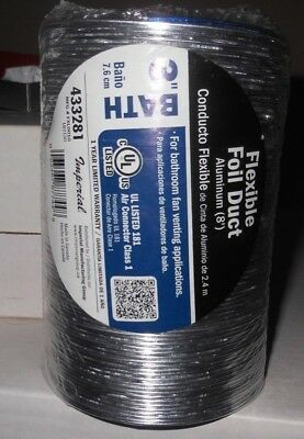 Flexible Duct General Purpose Venting Silver Finish Foil 3 X 96 Inch Imperial
