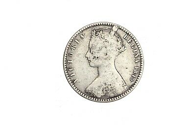1849 Great Britain One Florin Gothic Circulated Silver Coin KM#745 RARE!! 2D10