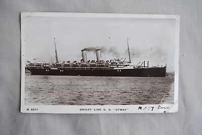 Old Shipping Real Photo Postcard Orient Line S S Otway
