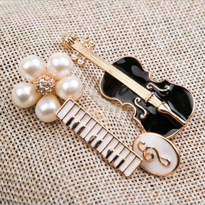 Creative Musical Instrument Alloy Brooch Clothes Bag Curtain Jewelry Accessories