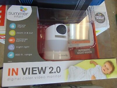 *NEW* Summer Infant In View 2.0 Digital Color Video Baby Monitor *SEALED*