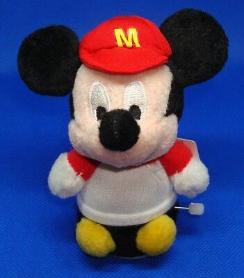 """NEW W/Tags MICKEY MOUSE DISNEYLAND Disney Store Tiny 3.5"""" wind up toy on wheels"""