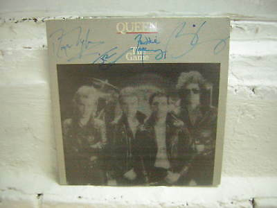 Queen Signed Lp The Game 1980 Freddie Mercury Bran May Deacon Taylor X4
