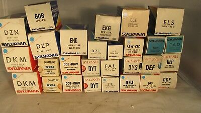 28 New Old Stock Sylvania Projector Lamps
