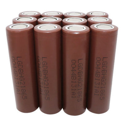 12X 18650 INR 3000mAh Li-ion Rechargeable Battery Flat Top High Drain for Mod