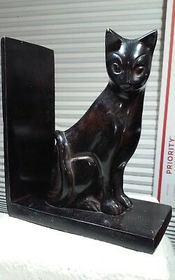 Way cool all metal sitting upright cat,kitty bookend (1) bout 7 x 5.8 x 3.25