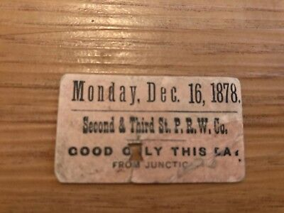 Rare Railroad Ticket from 1878