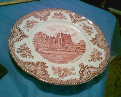 Johnson Bros Old Britain Castles Pink Dinner Plate Blarney Castle