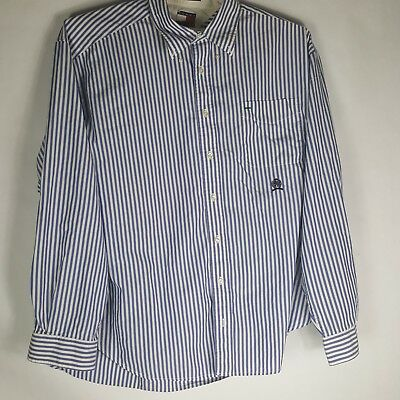 90s Vintage Tommy Hilfiger Striped Long Sleeve Button Up Shirt Men's Size XL