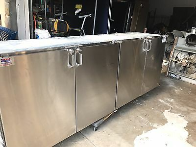 "BACK BAR COOLER, 96"" GLASS TENDER, 115V Shipping Available Buyer Pays100%"