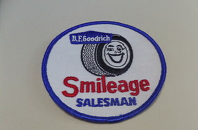 Vintage Rare B.f. Goodrich Smileage Salesman Patch. Never Used Old Stock.1960's?