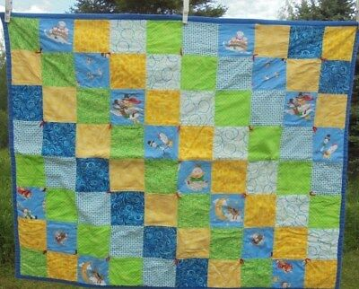 "Unisex Nursery Rhyme Themed small thin machichine made  Blanket Quilt 30""x38"""