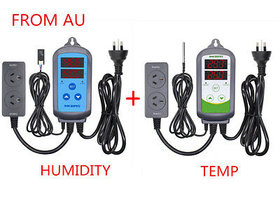 AU PLUG 240V Digital Temperature Controller + Humidity control ITC-308 +IHC-200