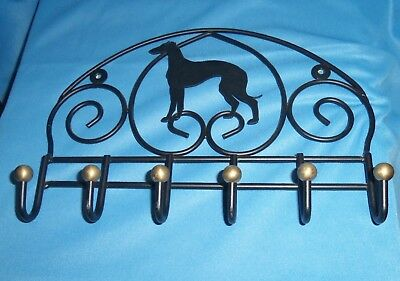 Decorative Metal Greyhound/Whippet Dog Wall Hook Hanger for Clothes Leashes Keys
