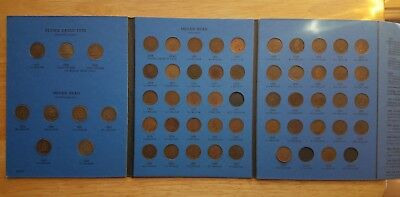 Flying Eagle-Indian Head  Nearly complete Set  55 Coins only missing 3 Key Dates