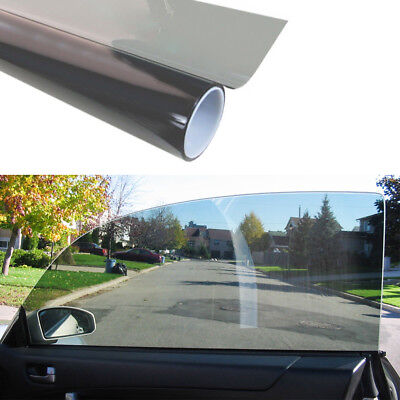 50cm*1M Black Glass Window Tint Shade Film VLT 70% Auto Car House PET Roll New