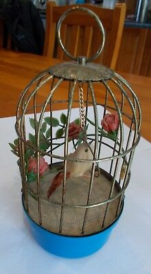 Vintage Tin Toy - 'Bird in a Cage'