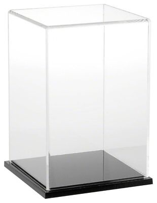 """Plymor Brand Clear Acrylic Display Case with Black Base, 6"""" W x 6"""" D x 9"""" H"""