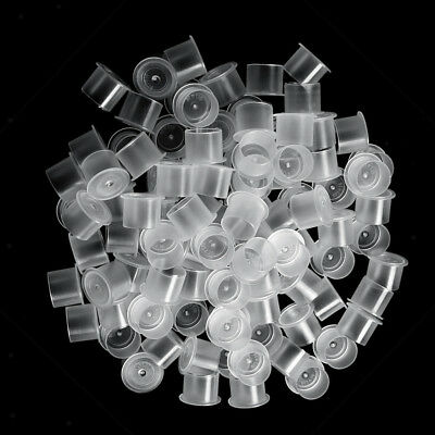 Lot 500pcs Ink Cups Pigment Holder Tattoo Microblading Large Caps Flat Base