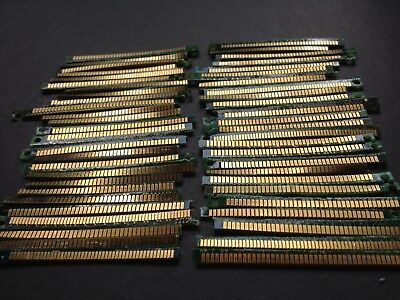 Lot Of 50 Pieces Memory Ram Gold Fingers For Gold Recovery