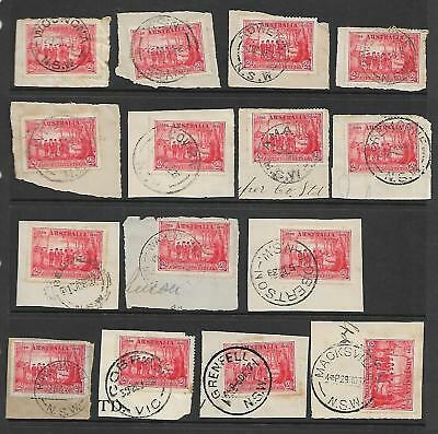 Pre Decimal,Australia,1937 150th Ann.NSW,Postal Stamp,2d Red Bulk Lot,Used,#1391
