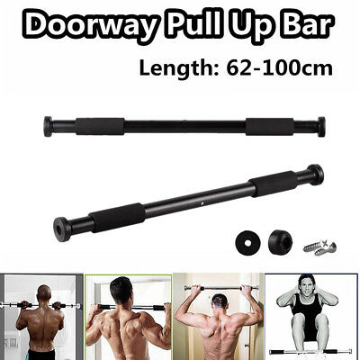 62-100cm Door Bar Chin Pull Ups Home Gym Fitness Strength Exercise Training New