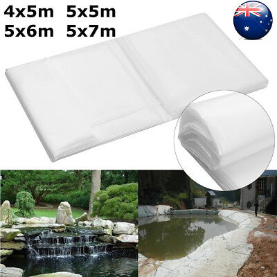 Multi Size White Durable Fish Pond Liner Gardens Landscaping Pools HDPE Membrane