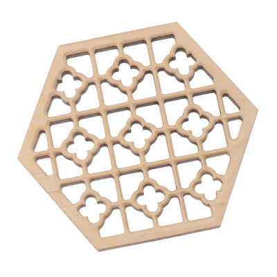 Polished Wooden Hexagonal Erhu Sound Hole Decoration Sound Window