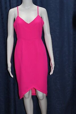 SEXY fluoro pink party dress, size 10 by INDIKAH, new with tags